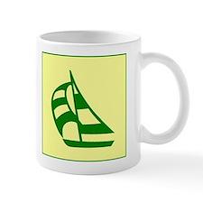 Green Sailboat Mug