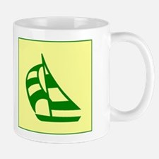 Green Sailboat Mug