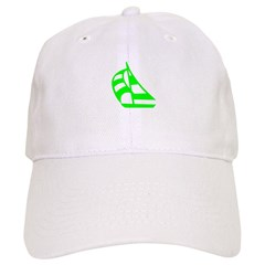Green Sailboat Baseball Cap
