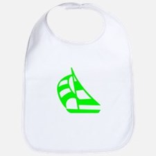 Green Sailboat Bib
