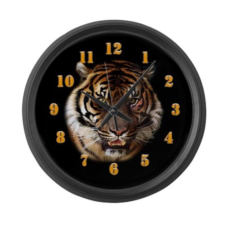 Go Wild Tiger Large Wall Clock