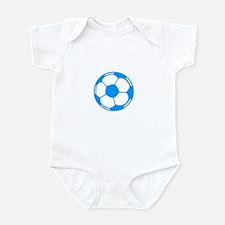 Blue Soccer Ball Infant Bodysuit