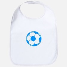 Blue Soccer Ball Bib