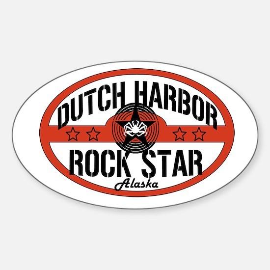 Dutch Harbor Rock Star Oval Decal