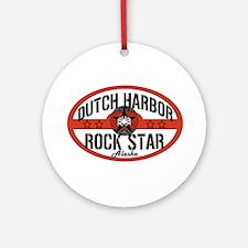 Dutch Harbor Rock Star Ornament (Round)