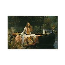 Lady of Shalott by JW Waterhouse Rectangle Magnet