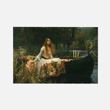 Lady of Shalott by JW Waterhouse Rectangle Magnet