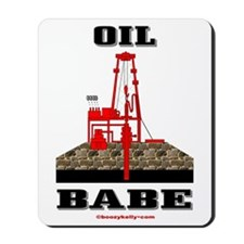 Oil Babe Mousepad,Roughneck Wife,Oil Rig,Oil