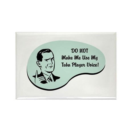 Tuba Player Voice Rectangle Magnet (100 pack)