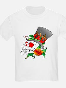 Skull w/ TopHat Tattoo T-Shirt