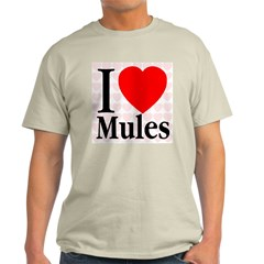 I Love Mules Ash Grey T-Shirt