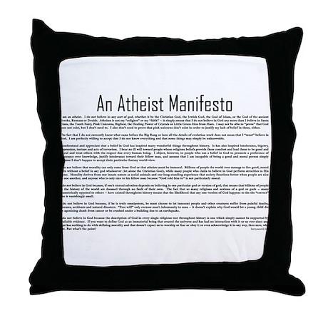 Atheism Throw Pillow