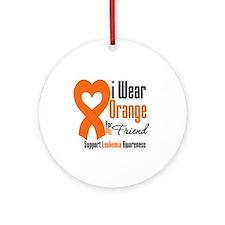 Leukemia I Wear Friend Ornament (Round)