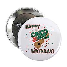 """Happy Cinco de Mayo Birthday 2.25"""" Button (10 pack"""
