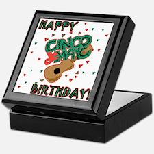 Happy Cinco de Mayo Birthday Keepsake Box