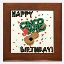 Happy Cinco de Mayo Birthday Framed Tile