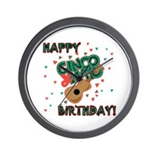 Happy Cinco de Mayo Birthday Wall Clock
