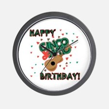 Happy Cinco de Mayo Birthday Wall Clock