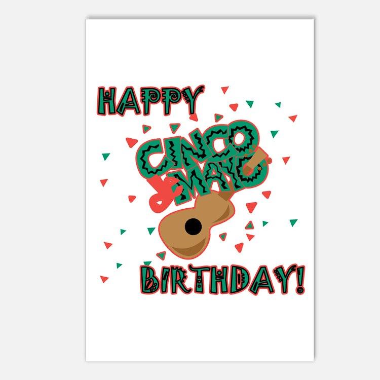 Happy Cinco de Mayo Birthday Postcards (Package of