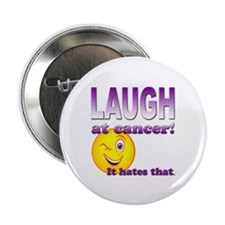 """Laugh at Cancer 2.25"""" Button (10 pack)"""