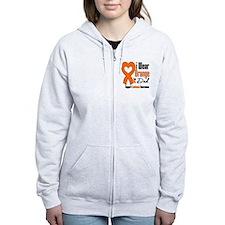 Leukemia Dad Zip Hoodie