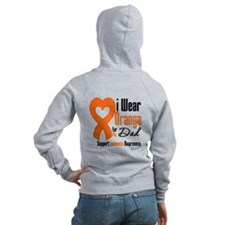 Leukemia Dad Zipped Hoody