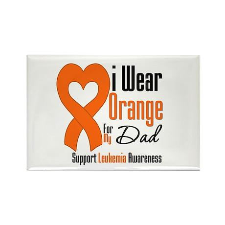 Leukemia Dad Rectangle Magnet (10 pack)