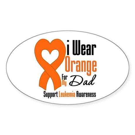 Leukemia Dad Oval Sticker