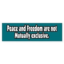 Peace and Freedom Peace Bumper Bumper Sticker