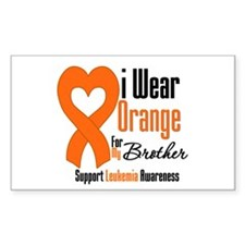 Leukemia Brother Rectangle Decal