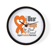 Leukemia Best Friend Wall Clock