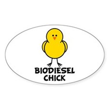 Biodiesel Chick Oval Decal