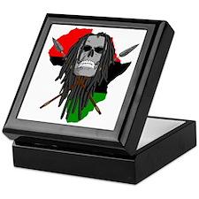 Warrior Skull Keepsake Box
