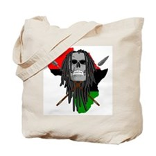 Warrior Skull Tote Bag