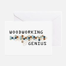 Woodworking Genius Greeting Card