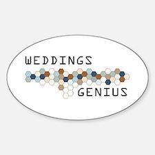 Weddings Genius Oval Decal