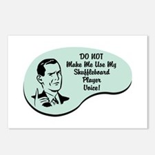 Shuffleboard Player Voice Postcards (Package of 8)