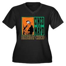 Cinco de May Women's Plus Size V-Neck Dark T-Shirt