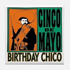 Cinco de Mayo Birthday Chico Tile Coaster