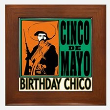 Cinco de Mayo Birthday Chico Framed Tile