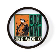 Cinco de Mayo Birthday Chico Wall Clock