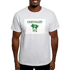 EVIL CAPITALIST PIGS! Ash Grey T-Shirt