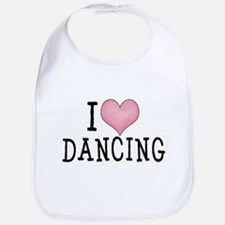 I Love Dancing Bib