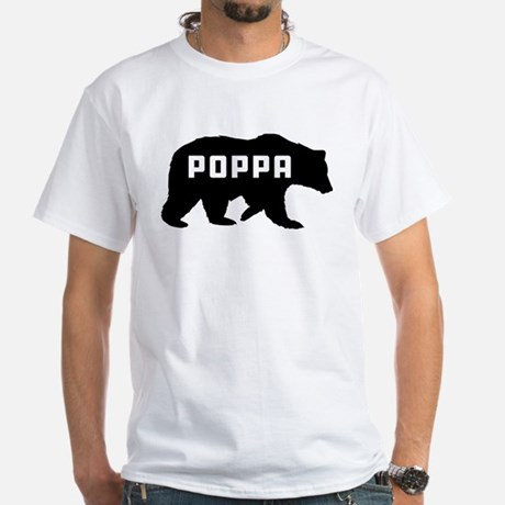 Poppa Bear White T-Shirt