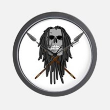 Skull and Spears Wall Clock
