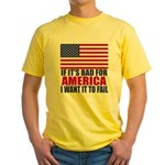 I want it to fail Yellow T-Shirt