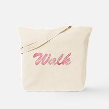 Red Diamond Walk Tote Bag