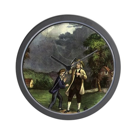 Ben Franklin's Experiment Wall Clock