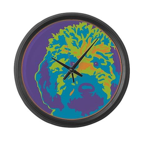 Labradoodle - Large Wall Clock