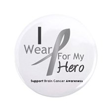 "Gray Ribbon Hero 3.5"" Button (100 pack)"